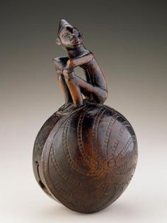 Africa | Bell.  Kongo peoples. DR Congo | Late 19th to early 20th century | Wood and stone