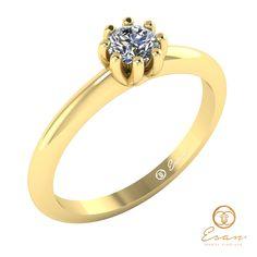 Inel de logodna din aur cu diamant ES30 Aur, Engagement Rings, Model, Jewelry, Enagement Rings, Wedding Rings, Jewlery, Bijoux, Schmuck