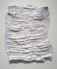 Elisa d'Arrigo ~ White Shadows, 2005 (paper, cloth, thread, acrylic paint, marble dust)