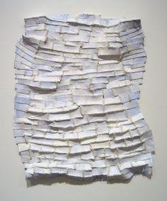 Elisa d'Arrigo ~ White Shadows, 2005 (paper, cloth, thread, acrylic paint, marble dust)