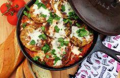 Skillet Eggplant & Chicken Parmesan