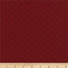 Timeless Treasures Tis the Season Geo Red from @fabricdotcom  Designed by Chong-a Hwang for Timeless Treasures, this cotton print fabric is perfect for quilting, apparel and home decor accents.