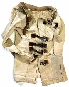 This Victorian straight jacket complies with the correct time and place that one would acquire when placed in such an environment.