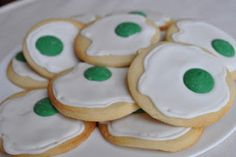 green eggs cookies for dr suess' birthday! would have to get parent permission first...