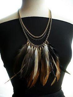 I love jewelry! Pretty Plumage Feather Jewelry