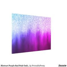 Abstract Purple And Pink Ombre Glitter Painting Canvas Print Z Gallerie Inspired Glitter Paint For Walls, Glitter Wall Art, Glitter Canvas, Glitter Wallpaper, Purple Painting, Galaxy Painting, Diy Painting, Painting Canvas, Canvas Art Projects