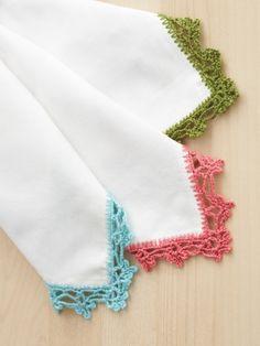 Lace Napkin Edging | Yarn | Free Knitting Patterns | Crochet Patterns | Yarnspirations