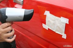 3 Ways to Remove a Dent in Car With a Hair Dryer - wikiHow