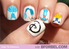 b for bel: Disney Princess Nails