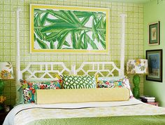 Palm Beach Chicness - love the headboard---same on in our daughter's room!