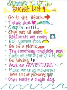 DONE & DOING~~ We've check off some of these on our Summer Bucket List for 2012. going to the beach, sleeping in, redecorating, eat yummy food, go on a picnic, try something completely new, go hiking, haing an adventure (we're had a few and are planning more), we're making amazing memories, taking lots of pictures and not wasting a single day.