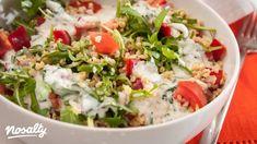 Bulgursaláta kefires öntettel | Nosalty Thing 1, Kefir, Cobb Salad, Potato Salad, Diet Recipes, Grains, Food And Drink, Rice, Meat