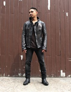 "Brian Aznar:  Technology Director at Women's Wear Daily / Conde Nast Publications; What are you wearing right now? ""Carol Christian Poell bison high neck leather jacket, Shaun Leane necklace, Julius tank top, Nicholas Andreas Taralis jeans, and Carol Christian Poell boots"""
