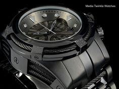 NEW Invicta 52MM Bolt ZEUS COMBAT BLACK Swiss Quartz All Black Bracelet Watch