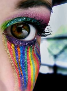 true colors, bachelorette parties, eye makeup, explosions, happy tears, rainbows, bright colours, halloween, eyes