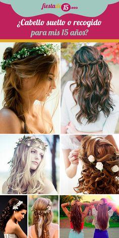 Quizás el peinado sea una de las grandes preocupaciones para muchas chicas que están próximas a celebrar sus 15 años, ya que, para este día todas desean llevar un look inigualable. Es el momento en el que empiezan a lucir como señoritas y es válido que quieran hacer un cambio radical en su estilo. Aquí te daremos algunos tips para tener el mejor de los peinados. Ideas Para Fiestas, Dreadlocks, Hairstyles, Inspiration, Beauty, Bridal Hairstyles, Loose Hair, Hair, Night Out