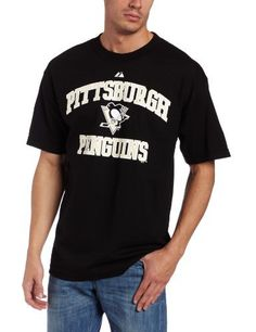 NHL Pittsburgh Penguins Penguins Heart And Soul II Adult Short-Sleeved Basic Tee,Black,Large by Majestic. $16.99. Celebrate the NBA Championship by wearing the Attitude of Champions from Majestic Athletic.
