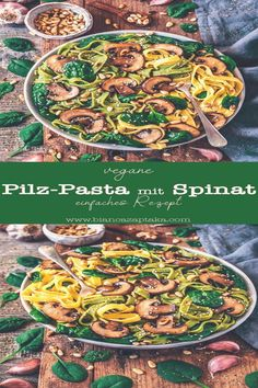 #Recipes #with #pasta #mit #vegan Einfache PilzPasta mit Spinat veganbrp classfirstletterwelcome to the page with the ultimate content about spinatpeinfache and Quality Pictures on Our Pinterest PanelbrIf you dont like everything recipes with pasta part of the Picture we offer you when you read this piece is exactly the features you are looking for you can see In the photo Einfache PilzPasta mit Spinat vegan we say that we have presented you with the Most gorgeously photograph that can be… Vegan Mushroom Pasta, Vegan Pasta, Mushroom Alfredo, Spinach And Mushroom, Easy Pasta Recipes, Easy Meals, Recipe Pasta, Spinach Pasta Recipes, Recipes With Spinach Vegan