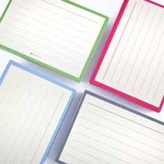 Semikolon Lined Index Cards are good for more than just making flash cards or studying for tests. The bright colors and thick paper make them perfect for recipes, cataloging collections or storing business cards and contact notes.