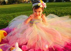 Pastel Easter Egg Tutu Dress. $50.00, via Etsy.
