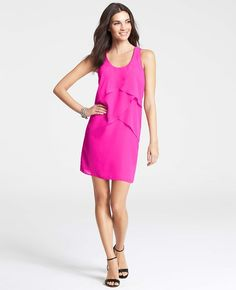 Love the color on this Ann Taylor Tiered Chiffon Tank Dress
