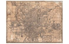 Map of Indianapolis 1899 by alternatehistories on Etsy, $20.00
