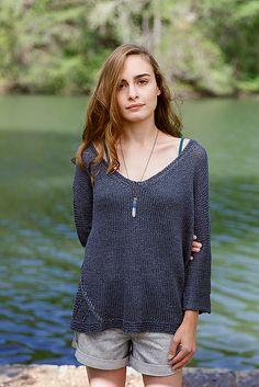Ravelry: Nouri pattern by Carol Feller Free Crochet, Knit Crochet, Knitting Patterns, Crochet Patterns, Knitting Ideas, Crochet Shirt, Summer Knitting, Top Pattern, Pattern Ideas