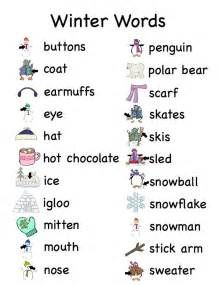 illustrated WINTER VOCABULARY