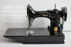 This is what I learned to sew on! In Color Order: Vintage Singer Featherweight Tips and Tricks Sewing Hacks, Sewing Crafts, Sewing Projects, Sewing Tips, Crafty Projects, Sewing Tutorials, Sewing Ideas, Antique Sewing Machines, Vintage Sewing Patterns