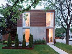 Concrete & Wood Home   Flickr - Photo Sharing!
