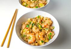 Easy Shrimp Pad Thai that is Gluten Free and so delicious, you'll never order take-out again! by Tastefulventure.com