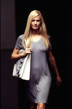 Karen Mulder for Salvatore Ferragamo S/S 1996