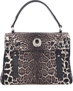 YSL Ponyskin Bag.   dressologyhq.blogspot.com