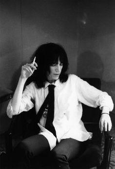 Patti Smith à Londres en mai 1975