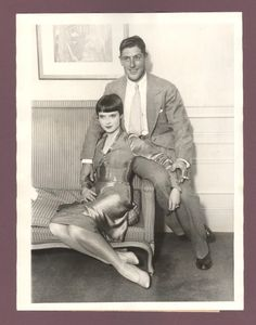 Louise Brooks as a young bride with her brand new husband, Eddie Sutherland
