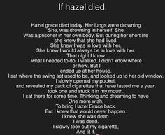 If hazel died and not gus