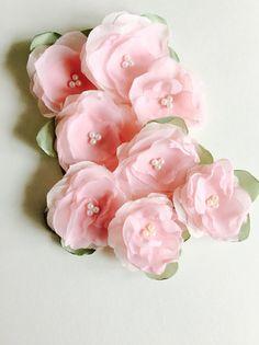 Little cherry blossom hair clips for flower girls Spring Wedding by amuandpri on Etsy https://www.etsy.com/listing/211026786/little-cherry-blossom-hair-clips-for