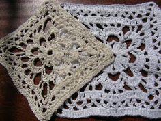 Вязание крючком Ажурный квадрат. Оpenwork crochet square - YouTube