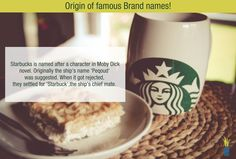 Do you know the origin of this famous Brand name? ‪#‎Starbucks‬ ‪#‎famousbrandfacts‬!