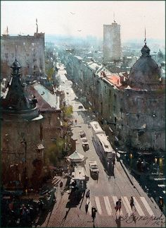 Dusan Djukaric. View through the Resavska street