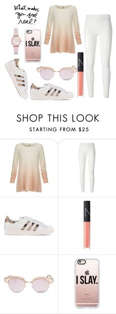 """""""Untitled #41"""" by fashionforwardfaith ❤ liked on Polyvore featuring Joie, Rick Owens Lilies, adidas Originals, NARS Cosmetics, Le Specs, Casetify and Emporio Armani"""