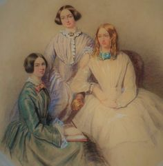 National Portrait Gallery There are two official portraits of the Bronte Sisters. Both painted by their brother Branwell Bront. Bronte Sisters, Charlotte Bronte, Emily Bronte, People Of Interest, National Portrait Gallery, Pastel Drawing, Museum Collection, I Love Books, Pet Portraits