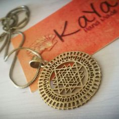 KayaArt shared a new photo on Etsy Sri Yantra Meaning, Brass Pendant, Bling Bling, Washer Necklace, Zen, Mermaid, Etsy, Jewelry, Style
