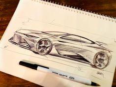 Normal Cars, Car Sketch, Transportation Design, Automotive Design, Prismacolor, Concept Cars, Cars And Motorcycles, Art Sketches, Exterior Design