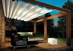 přemýšlíme o tom zastřešení nad terasou, zda to udělat jako pokračování střechy z té části obýváku nebo třeba něco takového, nevím ale jak by to bylo s deštěm apod.