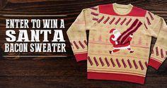 Win a Custom Santa Bacon Sweater from Farmland Bacon. #Sweepstakes