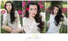 Janice Louise Photography   Delaware Portrait Photographer   Female Senior Portrait Session with flowers in Lewes.