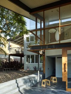 Contemporary Extension On Weatherboard House By Tim Stewart