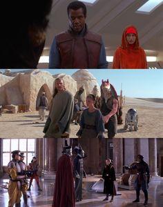 Star Wars Episodes I, II e III Costume designer: Trisha Biggar Estante da Sala