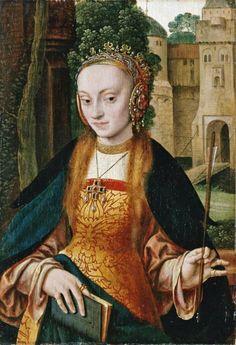 Bruyn the Elder, Saint Ursula, Kholn Renaissance Paintings, Renaissance Art, Medieval Books, Classic Image, Fantasy Costumes, Cool Paintings, Historical Costume, Woman Painting, Ancient Art